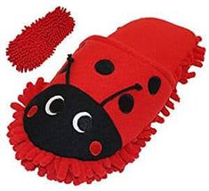 HomeTop Plush Fluffy Cute Animal Microfiber Mop Cleaning House Slippers, Shoes For Women (L, Red Ladybug) Funny Slippers, Best Slippers, Cute House, Clean Microfiber, Clean House, Ladybug, Cute Animals, Plush, Cleaning