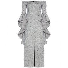 Ellery mytheresa.com Exclusive Wool-Blend Dress ($1,675) ❤ liked on Polyvore featuring dresses, black, e l l e r y dress and e l l e r y