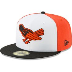 Baltimore Orioles New Era Cooperstown Collection Alt Logo Pack Fitted Hat  White e8e954c7a0a9