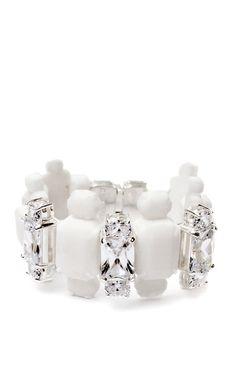 Shop White Dasha Bracelet by Ek Thongprasert X Natasha Goldenberg for Preorder on Moda Operandi