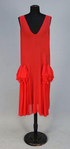 FRENCH CHIFFON EVENING DRESS, 1920's
