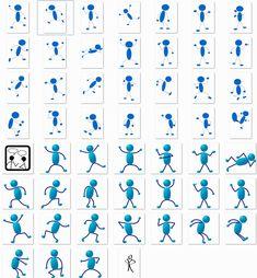 Les positions du corps illustrées à l'aide d'un petit bonhomme.Des images qui vous rendront beaucoup de services.
