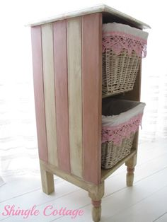 Annie Sloan Chalk Paint Scandinavian Pink and Old Ochre with Dark Wax. (Find a dresser, take out drawers, make a shelf. Chalk Paint Furniture, Funky Furniture, Repurposed Furniture, Furniture Projects, Furniture Making, Furniture Makeover, Annie Sloan Chalk Paint Scandinavian Pink, Furniture Inspiration, Shabby Chic Decor