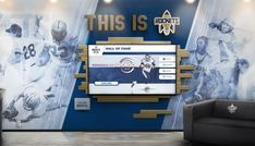 Touch screen digital wall of fame highlighting school history and sports awards Interactive Touch Screen, Interactive Walls, Interactive Display, School Donations, Donor Wall, Web Platform, Sports Awards, Wall Of Fame, Digital Wall