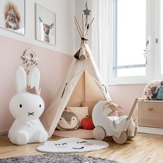 We just love this gorgeous kid's play corner by 👈🏻 Cam Cam Rainbow mobile, Miffy lamp and Ooh Noo Toy Pram are all available in our online store 💕 . Blue Teen Girl Bedroom, Baby Bedroom, Girl Rooms, Nursery Room Decor, Childrens Room Decor, Nursery Toys, Girl Nursery, Kids Play Corner, Miffy Lamp