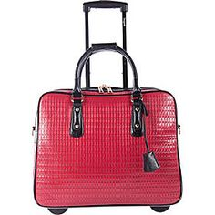 Buy the Bugatti Ladies Rolling Business Case at eBags - Add instant sophistication to your travel routine with this elegant rolling business case from Bugat Rolling Laptop Bag, Rolling Bag, Best Carry On Luggage, Laptop Tote Bag, Big Handbags, Laptop Bag For Women, Trolley Bags, Computer Bags, Fashion Bags