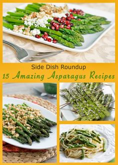 Roundup of Asparagus Side Dish Recipe on The Lovebugs Blog