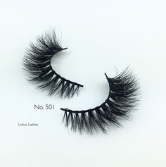 These high volume No. 501 lashes by LOTUS are longest at the middle and outer corners to create a striking, wing-eyed look. This glamorous lash adds a smoldering look to your eyes that's perfect for a night out or any special occasion.