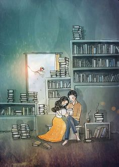 Love Cartoon Couple, Anime Love Couple, Couple Art, Couple Amour Anime, Illustration Mignonne, Night Illustration, Digital Illustration, Art Mignon, Girl Sketch