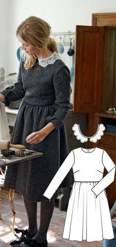 Dress Burda Dec 2012 #133  Pattern $5.99: http://www.burdastyle.com/pattern_store/patterns/tweed-dress-122012