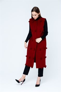 Жилет 1743 hrn Sangria, Dresses For Work, Fashion, Moda, Fashion Styles, Fashion Illustrations