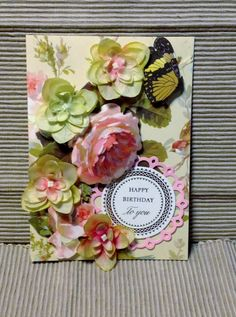 Anna Griffin Happy Birthday Card with Roses by MyPrettyPaperGifts, $8.49