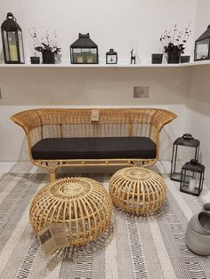 Iconic designs by Franco Albini & Franca Helg at - visit our stand in hall Rattan, Wicker, Icon Design, Ottoman, Chair, Interior, Table, Handmade Furniture, Inspiration