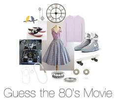 """Guess the 80's Movie"" by laurascandi ❤ liked on Polyvore featuring Carven, Sterling, NIKE, Chloé, Chloe + Isabel, women's clothing, women, female, woman and misses"