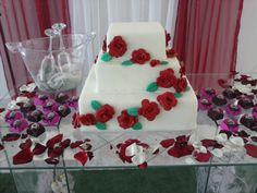 branco com rosas