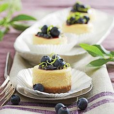 Petite Blueberry Cheesecakes | MyRecipes.com