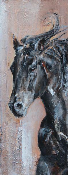 Peinture contemporaine d'un cheval : Peintures par berenice-d