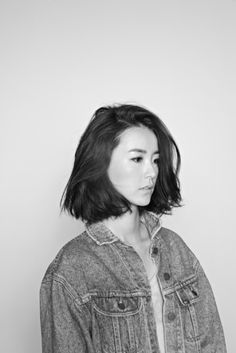 YUMI CHUNG short bob hair - love this.