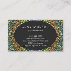 Shop Vivid Jungle Garden Mandala Business Card created by ZyddArt. Print Templates, Card Templates, Jungle Gardens, Hairstylist Business Cards, Business Card Design, Paper Texture, Print Design, Mandala, Beautiful