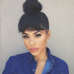 ***Try Hair Trigger Growth Elixir*** ========================= {Grow Lust Worthy Hair FASTER Naturally with Hair Trigger} ========================= Go To: www.HairTriggerr.com =========================       The Cutest Top Bun and Bangs!!!