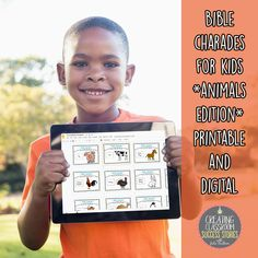 Have a few extra minutes in Sunday School or Kids' Church? Hosting a summer camp, vacation bible school, or lock-in? Teach in a Christian school? The possibilities are endless with this easy-prep bible charades game *animals edition* in printable and digital format for younger children. Either print and cut the 36 cards or add them to your Google Drive and start playing.