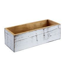 """michaels stores - Whitewashed Wood Box by ArtMinds™, 12"""" x 4.7"""" x 3.5"""""""