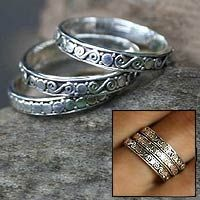 In my younger days, I stacked the heck out of rings. (I'm a child (teenager, really) of the 80s, after all! LOL) For a long time, I stopped and have recently started liking this look again. These would be so fun to stack in different ways. Perfect size, and I really like the details on each band. (Together from @NOVICA, They help #artisans succeed worldwide.)