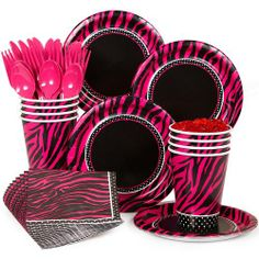 Pink Zebra Boutique Standard Kit Serves 8 - Pink Zebra Party Supplies