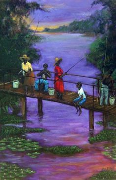 'Fishin with our canepoles and buckets' by Ted Ellis