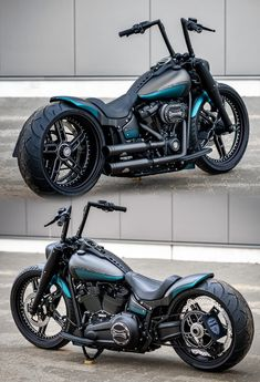 Harley-Davidson Fat Boy by Thunderbike - Custom H-D FLFBS Fat Boy project with and wheels, single-side swingarm, air-ride suspension and many more cool parts. Vrod Harley, Harley Bikes, Harley Davidson Motorcycles, Motorcycle Types, Chopper Motorcycle, Motorcycle Design, Custom Motorcycle Paint Jobs, Motorcycle Quotes, Bobber Bikes
