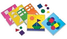 Geometry Unit Center Idea! Comes with many different cards to make shapes or pictures with the pattern blocks. Helps teach constructing and deconstructing of various shapes standards. Goes perfectly with our geometry unit in first grade!