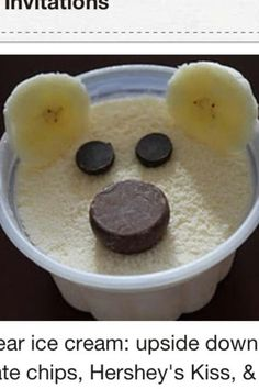 Bear ice cream cup