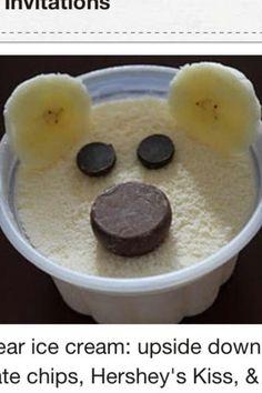 Bear ice cream cup