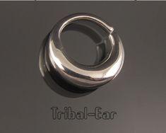 Septum nose ring plain silver piercing ethnic handmade jewelry earrings Tribal Ear 012 de la boutique TribalEar sur Etsy