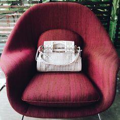 Priscilla New Bentota White Vitello White / bag woven color /