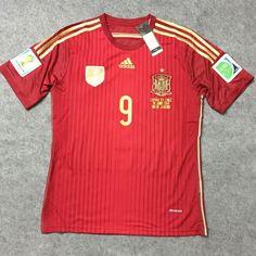 45967434fa4 Spain national football team Torres  9 Adidas WC 2014 Retro Classic  Camiseta FÚTBOL SOCCER KIT CALCIO SHIRT JERSEY FUSSBALL CAMISA TRIKOT  MAILLOT MAGLIA ...