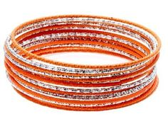 Yarn wire outside bangles