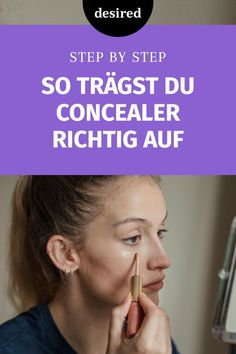 Apply the concealer correctly - Is your concealer in the wrinkles under your eyes during the day? We& tell you how to apply - Peach Lipstick, Lipstick Tube, Natural Lipstick, Beauty Makeup Tips, Beauty Make Up, Beauty Skin, Beauty Hacks, Beauty Box, In Cosmetics