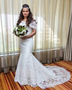 Where To Buy Christian Wedding Gowns In India - ShaadiWish\ Christian Wedding Dress, Christian Bride, Popular Wedding Dresses, Wedding Dress Trends, White Wedding Gowns, Elegant Wedding, Traditional Gowns, Simple Gowns, Bridal Skirts