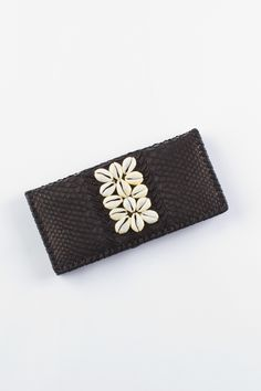 Hanalei Shell Wallet - Black • Spell & the Gypsy Collective