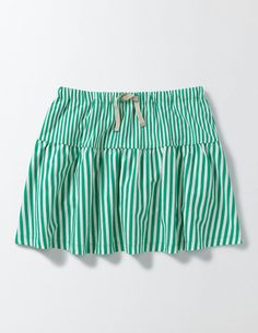 Skirt or shorts? Now you can have the best of both worlds. Our striped skort has all the girly fun of a skirt and all the easy-to-wear practicality of shorts. So you can hang upside down on the climbing frame as much as you like.