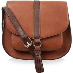 Accessorize Bryony Tassle Saddle Bag ( 54) ❤ liked on Polyvore featuring  bags ec9b3603c4805