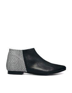 Enlarge Won Hundred Elenora Black Colour Block Ankle Boots
