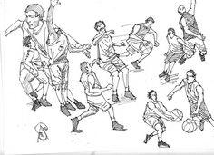 Basketball player sketches