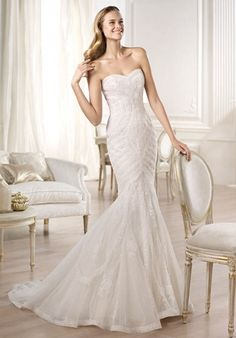 Bridal Gown Inspiration a board by www.myfauxdiamond.com #myfauxdiamond #weddings #jewelry  PRONOVIAS Fashion Collection - Ombera