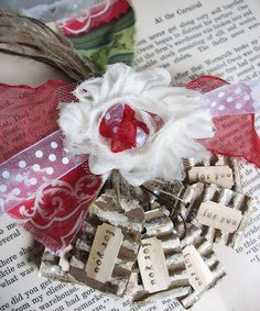 fun way to use cardboard! tiny shabby tags! #recycle, #upcycle, #papercrafts, #tags, #shabbychic