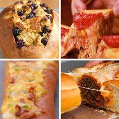 Bread Boats 4 Ways by Tasty