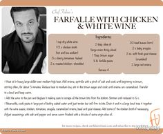 Fabio Vivianis, photo,Never use bad wine when you cook !! Use some good white…
