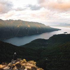 Sunset high above Te Anau  by daniel_ernst