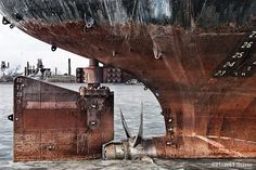 Great Lakes freighter ~ prop & rudder